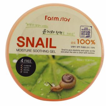 Farmstay 100% Snail Moisture Soothing Gel 300ml (AUTHENTIC)