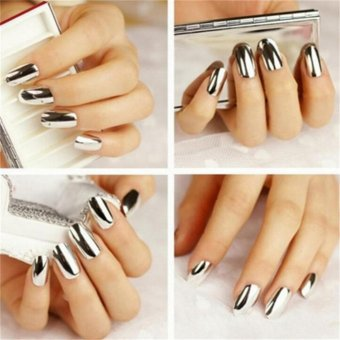 Fashion Mirror Glitter Powder Nail Art Pigment Chrome ManicureSilver - intl - 4