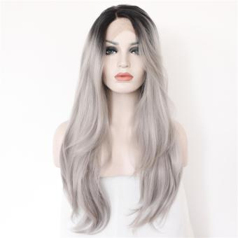 Fashion Women Silver Grey Replacement Hair Wigs - intl