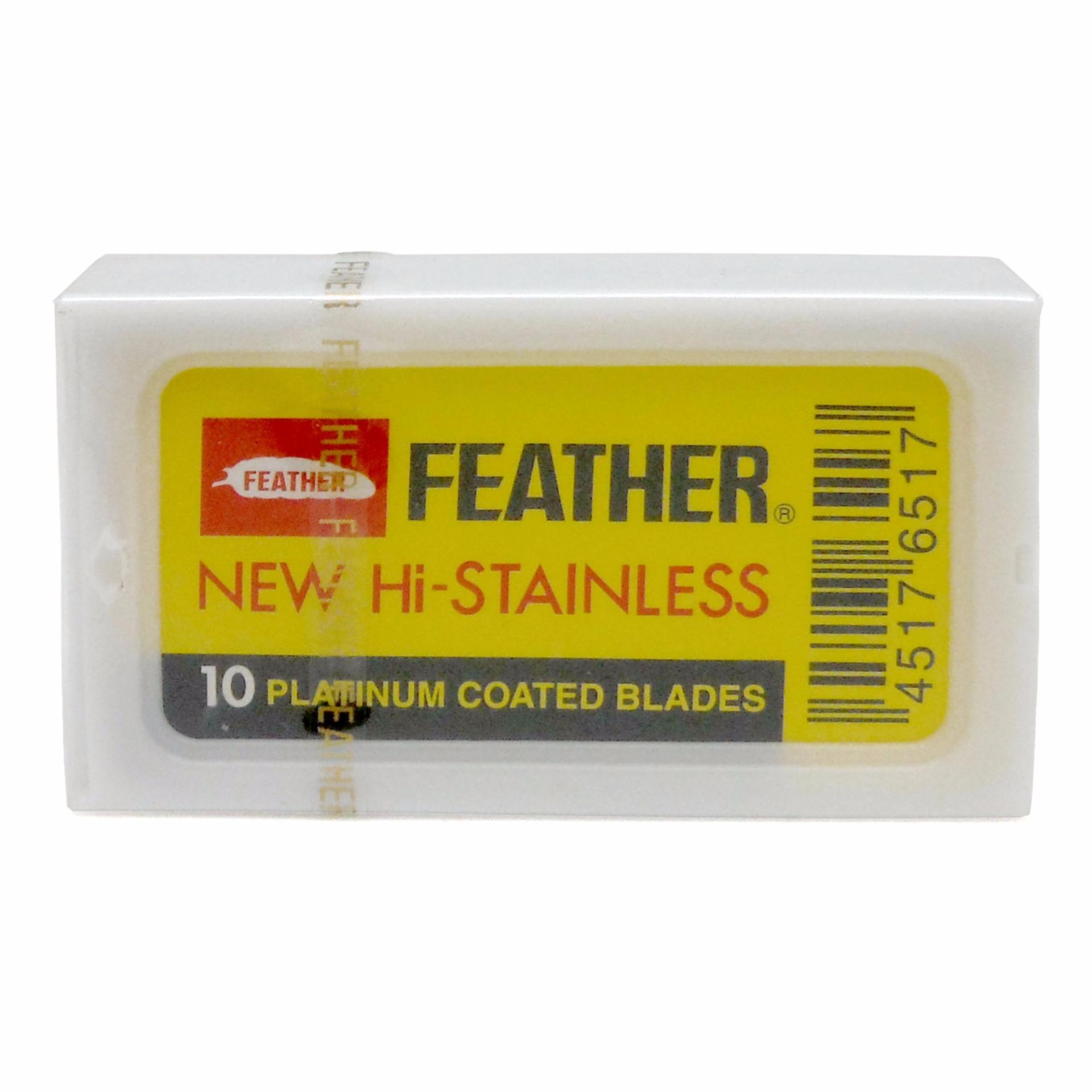 Feather Hi-Stainless Double Edge Razor Blades 10ct