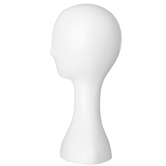 Female Plastic Mannequin Manikin Head Model Foam Wig Hair Glasses Display Stand White - 2