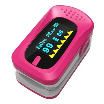 Fingertip Blood Pulse Oximeter Oxygen SPO2 OLED Pulse Heart Rate Monitor Oximeter - intl