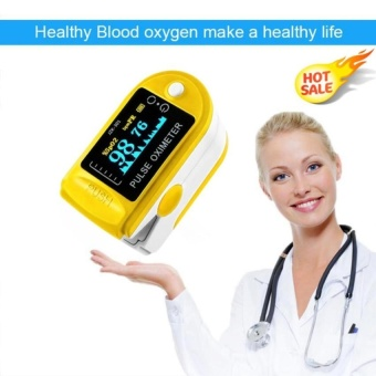 Fingertip Pulse Oximeter Blood Oxygen Saturation Monitor with PulseRate Monitor LED Display, Yellow - intl