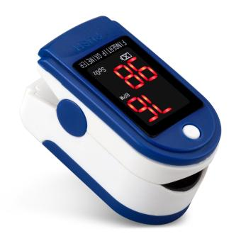 Fingertip Pulse Oximeter Blood Oxygen Saturation SpO2 Digital PR PI Heart Rate Monitor Blue - intl