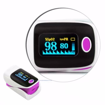 FingerTip Pulse Oximeter Blood Oxygen Saturation SPO2 PR Monitor Oxymeter - intl