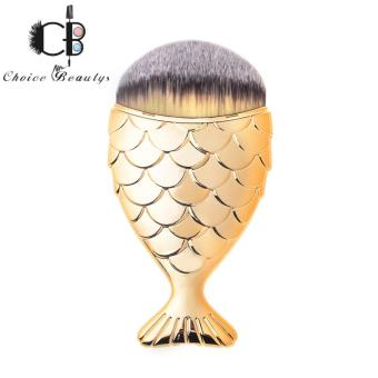 Fish-shaped Foundation Brush with Cover (Gold)