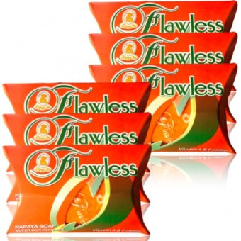 Flawless Papaya Super Whitening Soap Set of 6