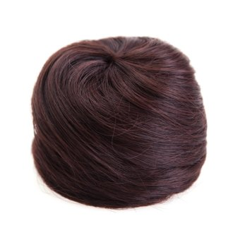 Fluffy Charming Synthetic Chignons (Brown)