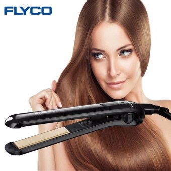Flyco Professional ceramic electric hair iron Straightening Iron hair straightener flat Styling hair Tools Dry and Wet FH6812 - intl