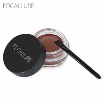 FOCALLURE Waterproof Long Lasting Dyeing Eyebrow Gel Cream with Brush Makeup Tool(Type 01) - intl