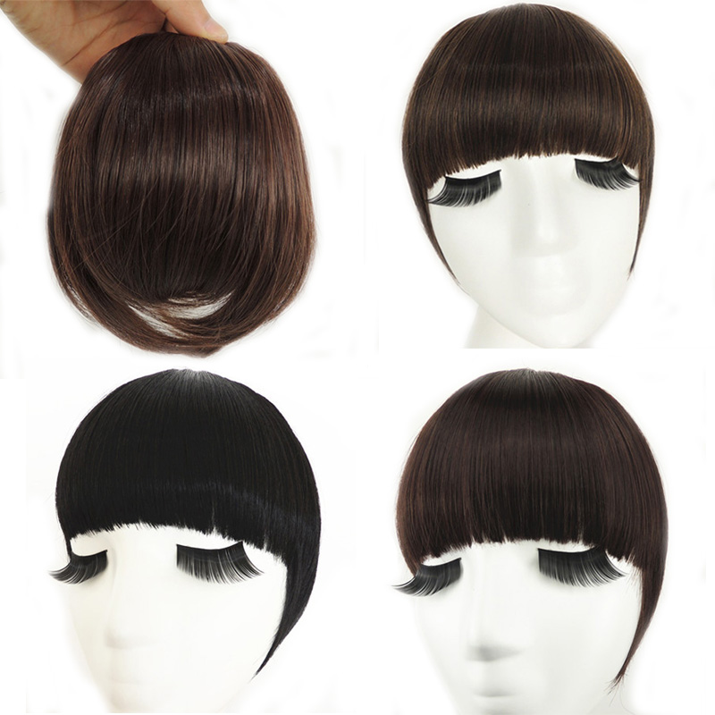 Philippines Fringe Clip In On Bangs Straight Hair Extensions Human