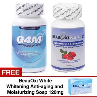 G4M Glutathione for Men and BeauOxi White-C Combo with FREE BeauOxiWhite Soap
