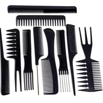 Generic Set 10 Professional Hair Styling Hairdressing Comb New (Intl)
