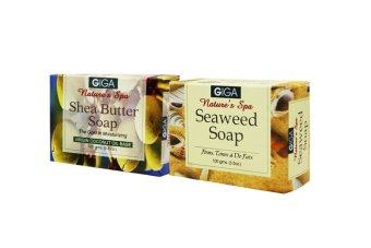 Giga Assorted Soap (Shea Butter/Seaweed Soap) 100g Set of 2