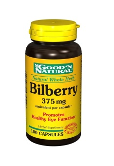 Good N' Natural Bilberry 375mg Capsules Bottle of 100