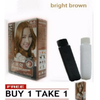 Hanzhixiu Permanent Hair Color with Active Vegetable Ingredient(A-5 Bright brown) 125g BUY 1 TAKE 1