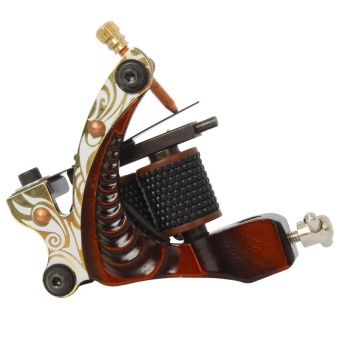 HB-WGD002 10 Wrap Coils Low-carbon Steel Shader Tattoo Machine Red- intl
