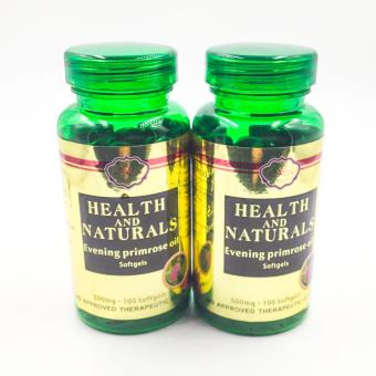 Health and naturals Evening Primrose Oil softgels 100's set of 2bottles