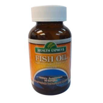 Health Express Fish Oil Omega 3 1000mg Softgel Bottle of 50