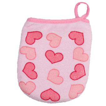 HengSong Baby Bath Sponge Bath Ball Gloves (Pink)