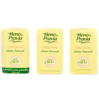 Heno de Pravia Original Natural Bath Soap 115g Set of 3
