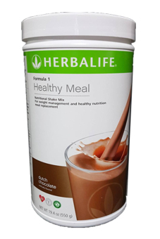 Herbalife Formula 1 Healthy Meal Nutritional Shake Mix Canister 550g (Dutch Chocolate)