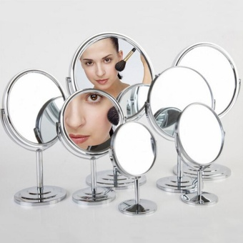 Hight Quality Store New Table Standing Dresser Double SidedMagnification Makeup Mirror 4 Inches Lady Beauty