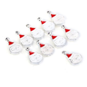 HKS 3D Alloy Christmas Santa Claus Head Style Nail Art Tip (10pcs) (Intl) - picture 2