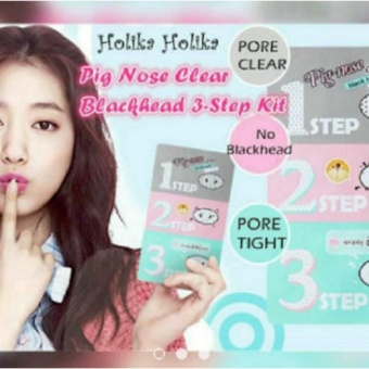 HOLIKA HOLIKA 3 Step Kit Pig-Nose Clear Blackheads Remover NoseMask Pore Cleanser 13g