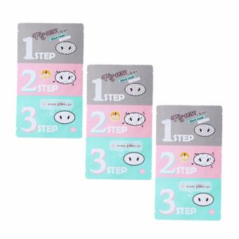 Holika Holika Pig-Nose Clear Black Head (3- Step Kit) Set of 3