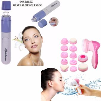 Hot Electronic Vacuum Skin Facial Pore Cleanser (Gray) with CnaierMulti-Functional Face Massager
