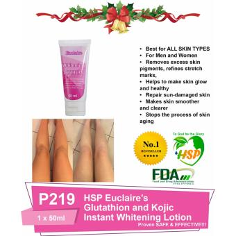 HSP Euclaire Glutathione and Kojic Instant Whitening Lotion 50ml 1pc