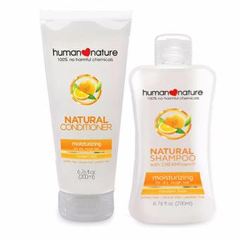 Human Nature Moisturizing Shampoo 200ml and Conditioner 200ml Mandarin Fresh