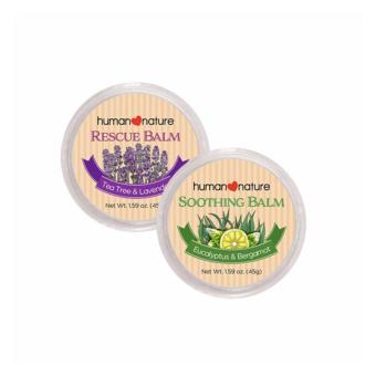Human Nature Soothing Balm 45g and Rescue Balm 45g - Calm andRelief Balm Set
