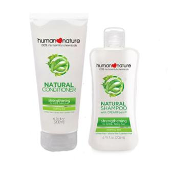 Human Nature Strengthening Shampoo 200ml and Conditioner Soothing Aloe 200ml