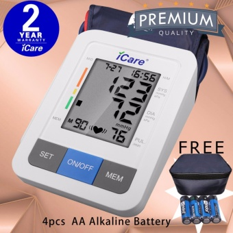 iCare CK802 Digital Upper Arm Blood Pressure Monitor with Irregular Heart Beat Detector and WHO Indicator