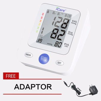 iCare(R)CK2289 Upper Arm Blood Pressure Monitor w/Medical PremiumQuality Adaptor (White)