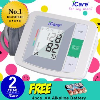 iCare(R)CK930 (White) Accurate Upper Arm Blood Pressure Monitor and Heart Rate Monitor