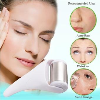 Ice Roller Skin Cool Derma Roller Massager for Face Body Massage Facial Skin Care Preventing Wrinkle Dermo Roller (Color:White) - intl