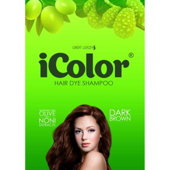 iColor Hair Dye Shampoo Dark Brown 300ml