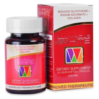 Illuminous White Glutathione with Collagen and Vitamin C 1500mg Softgel Capsule, Bottle of 30