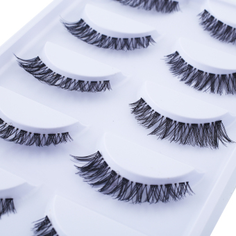 Fashion Long Thick Cross 5 Pairs Beauty False Eyelashes Extension Beauty - intl Price Philippines