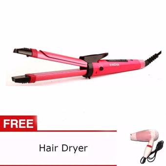 Harga NHC-1818SC NOVA 2 in 1 Hair Beauty (Pink) with Free Nova Foldable Mini Travel Hair Dryer Compact Blower (Pink)