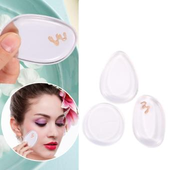 Harga 3Pcs Makeup Flawless Sponge Puff Blender Powder Silicone Applicator - intl