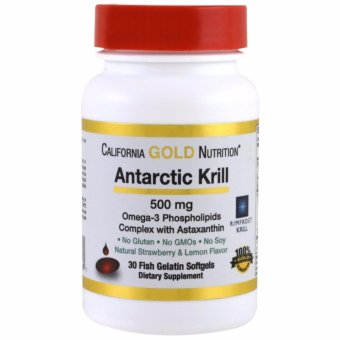 California Gold Nutrition, Antarctic Krill Oil, with Astaxanthin, RIMFROST, Natural Strawberry & Lemon Flavor, 500 mg, 30 Fish Gelatin Softgels Price Philippines