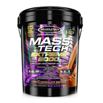 MuscleTech Mass Tech Extreme Triple Chocolate Brownie Weight Gainer, 22 Pound Price Philippines