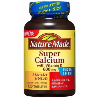 Harga Nature Made Super Calcium 600 mg with Vitamin D 120 Tablets