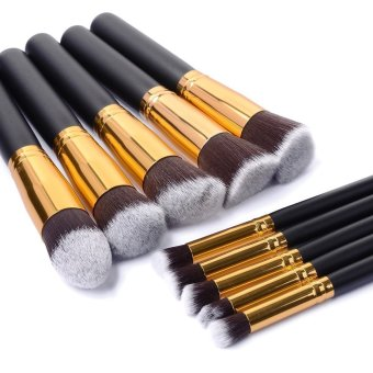 10pc/set Women Make up Brush set Tool set (Gold) - Intl Price Philippines