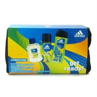 Harga Adidas Get Ready Set (Eau de Toilette 100ml + Deo Spray 150ml + Shower Gel 250ml + Toiletry Bag)