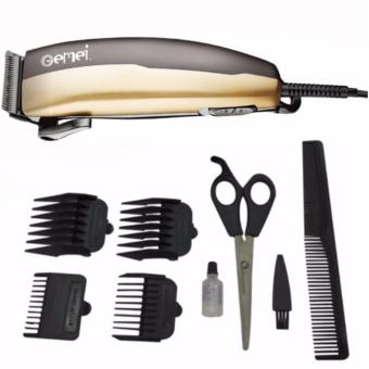 Harga Gemei 1028 Hair Clipper Trimmer 9-piece Set. Professional (Gold/Black)